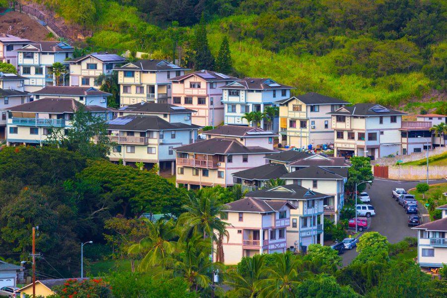 Scenic Honolulu Oahu Hawaii Suburban Neighborhood